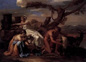 Ο Δίας και οι τροφοί του - Nicolas Poussin (1638)